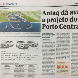 Clipping - A Gazeta - Antaq dá aval ao Porto Central - 19.01.2017
